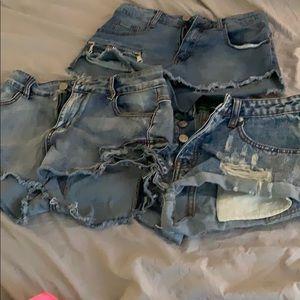 3 pairs of shorts size medium